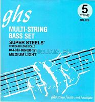 Струны для бас гитары GHS 5ML-STB Medium Light Super Steels